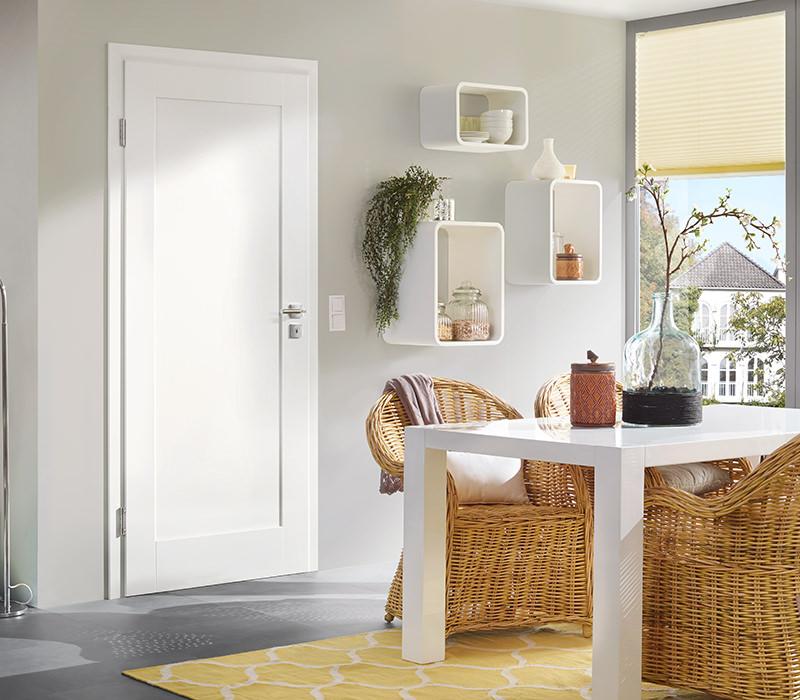 Zimmertüren weiß mit glasausschnitt  Weißlack Zimmertüren - Tuerenheld