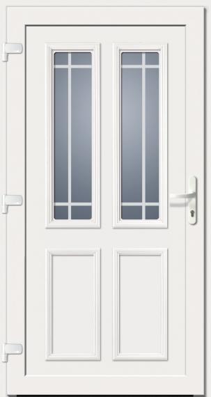 Haustür landhaus weiß  Kunststoffhaustür SecuDoor Exclusiv 10280E weiß - Tuerenheld