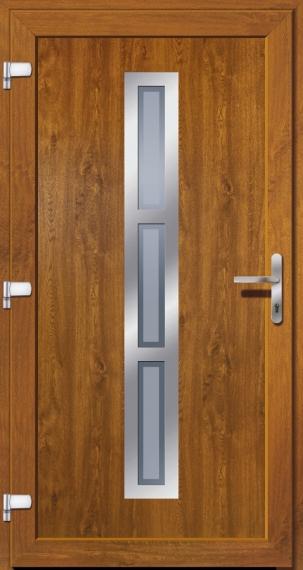 kunststoffhaust r secudoor exclusiv 10563e 2 golden oak tuerenheld. Black Bedroom Furniture Sets. Home Design Ideas