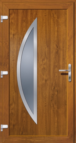 kunststoffhaust r secudoor exclusiv 10638e golden oak tuerenheld. Black Bedroom Furniture Sets. Home Design Ideas