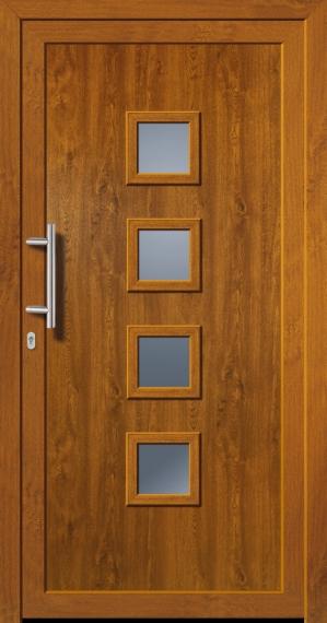 kunststoffhaust r secudoor exclusiv 11040e golden oak tuerenheld. Black Bedroom Furniture Sets. Home Design Ideas