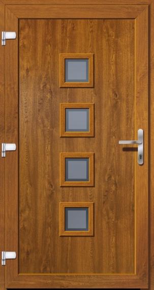 kunststoffhaust r secudoor exclusiv 11040e 2 golden oak tuerenheld. Black Bedroom Furniture Sets. Home Design Ideas