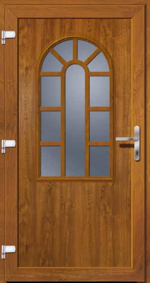 kunststoffhaust r secudoor exclusiv 11050e golden oak tuerenheld. Black Bedroom Furniture Sets. Home Design Ideas
