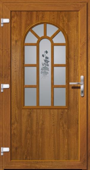 kunststoffhaust r secudoor exclusiv 11050e 2 golden oak tuerenheld. Black Bedroom Furniture Sets. Home Design Ideas