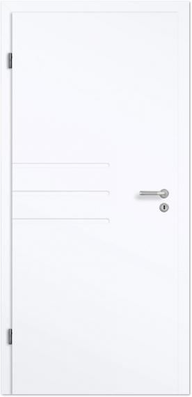 Zimmertür weiß modern  Design-Zimmertür Blanco Futura A Weißlack - Tuerenheld