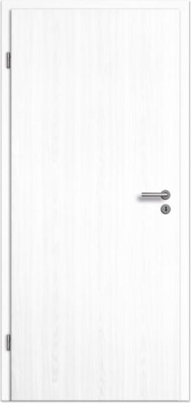 Top Innentür / Zimmertür Esche weiß CPL mit schmalem Lichtausschnitt EO73