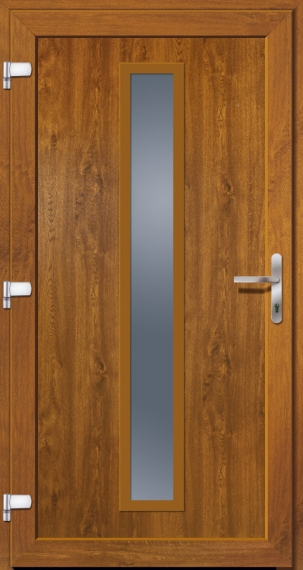 kunststoffhaust r secudoor power 11159p golden oak tuerenheld. Black Bedroom Furniture Sets. Home Design Ideas