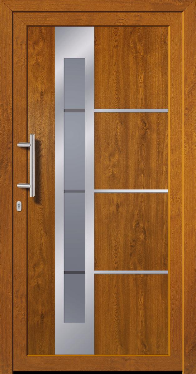kunststoffhaust r secudoor power 10841p 2 golden oak tuerenheld. Black Bedroom Furniture Sets. Home Design Ideas