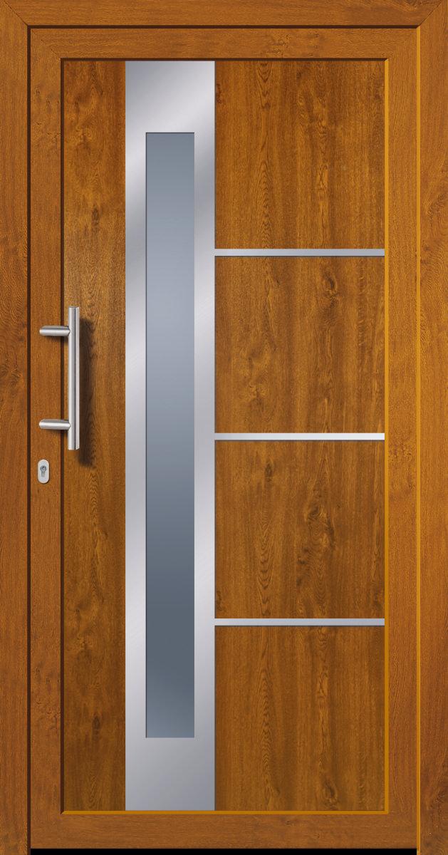 Favorit Kunststoffhaustür SecuDoor Exclusiv 10841E Golden Oak - Tuerenheld VR37