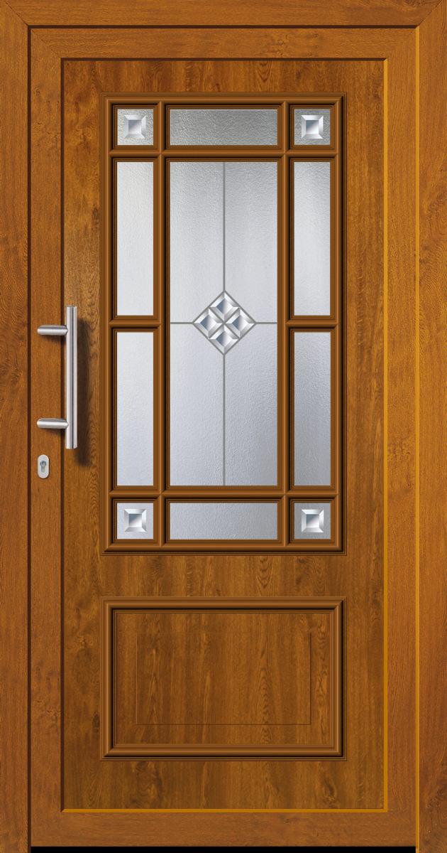 kunststoffhaust r secudoor exclusiv 11080e 2 golden oak tuerenheld. Black Bedroom Furniture Sets. Home Design Ideas