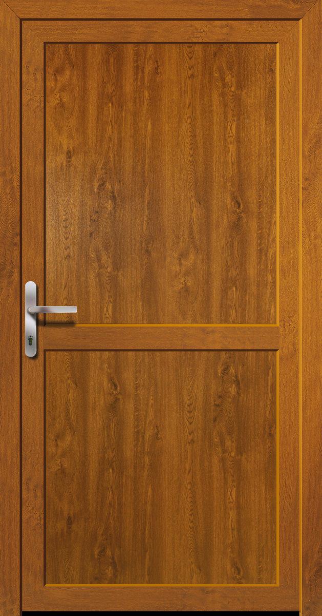 Bekannt Kunststoff-Nebeneingangstür Golden Oak Doorero K5600H - Tuerenheld LO37