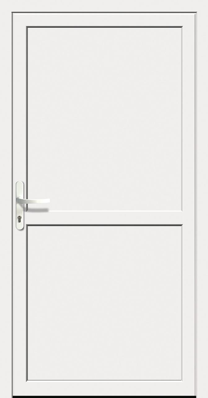 Hervorragend Kunststoff-Nebeneingangstür weiß Doorero K5600H - Tuerenheld TH04