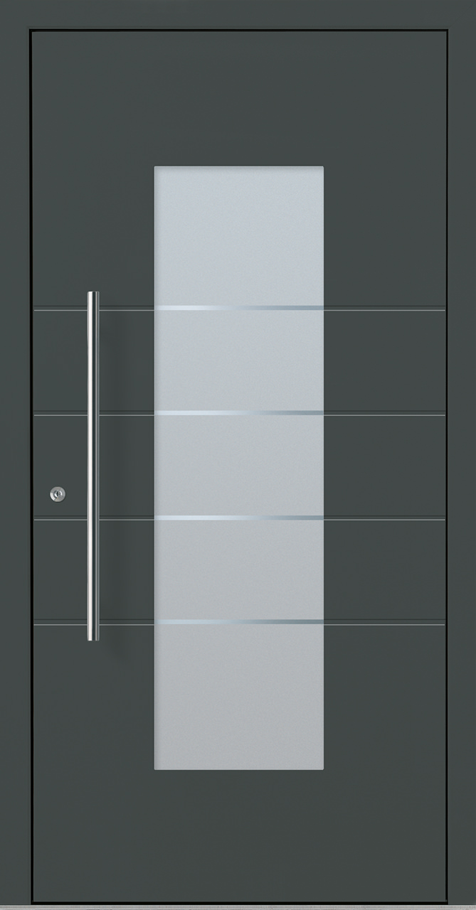 Beliebt Aluminiumhaustür OptiDoor Design 30481D anthrazitgrau 7016 VE53