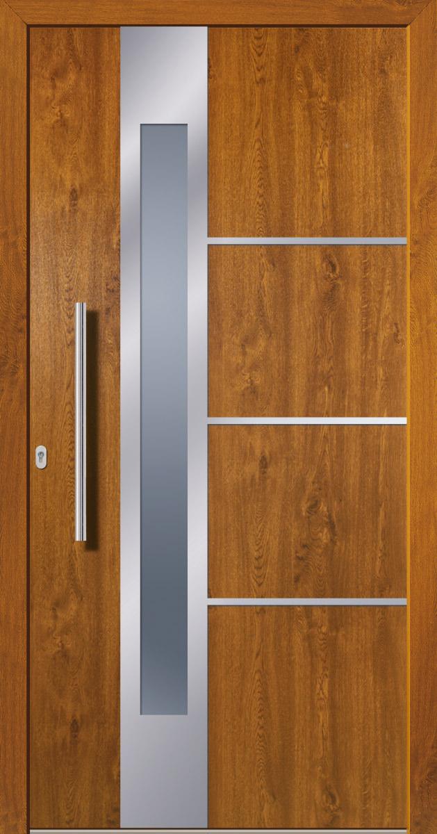 Gut bekannt Kunststoffhaustür SecuDoor Design 10841D Golden Oak - Tuerenheld WK88