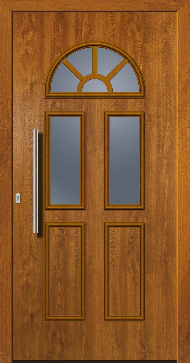 kunststoffhaust r secudoor design 11011d golden oak tuerenheld. Black Bedroom Furniture Sets. Home Design Ideas