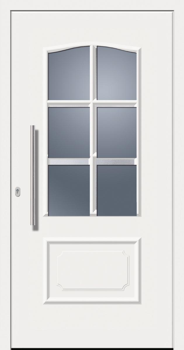 Haustür Kunststoff SecuDoor Design 11020D Weiß