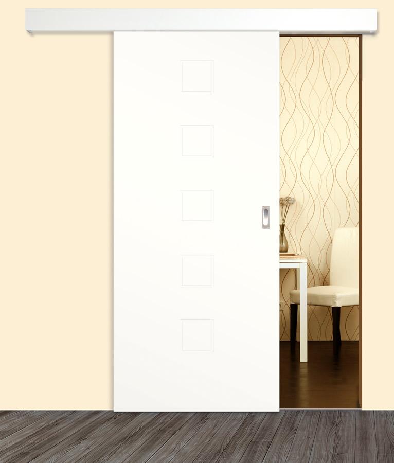 blanco linea 3 design schiebet r wei lack tuerenheld. Black Bedroom Furniture Sets. Home Design Ideas