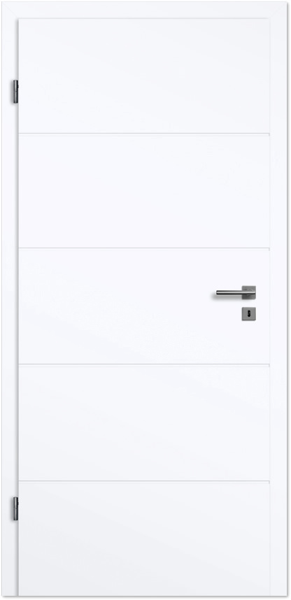Zimmertüren weißlack  Design-Zimmertür Blanco Linea 5 Weißlack - Tuerenheld