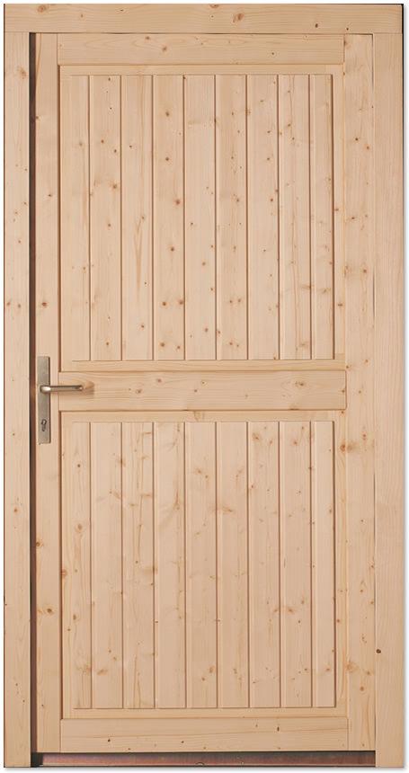 Nebeneingangstür mit zarge  Holz-Nebeneingangstür Fichte astig roh Doorero H2600 - Tuerenheld