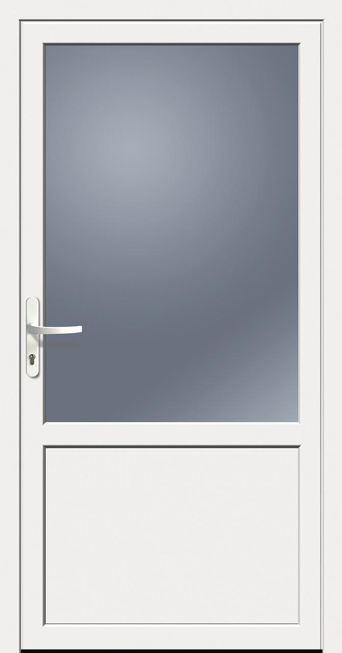 Nebeneingangstür kaufen  Kunststoff-Nebeneingangstür weiß Doorero K5300H - Tuerenheld