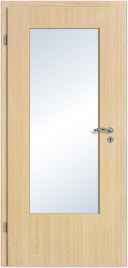 Innentüren mit lichtausschnitt  Innentür / Zimmertür Ahorn CPL mit großem Lichtausschnitt - Tuerenheld