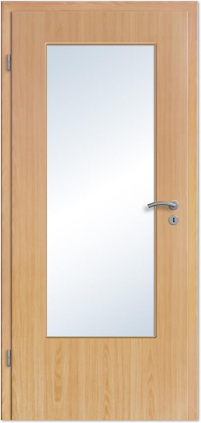 Zimmertür mit glasausschnitt  Innentür / Zimmertür Buche CPL mit großem Lichtausschnitt - Tuerenheld