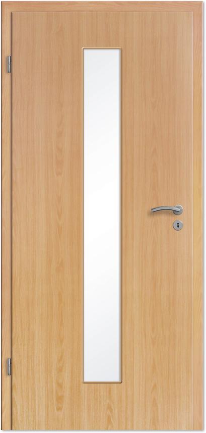 Innentüren mit lichtausschnitt  Innentür / Zimmertür Buche CPL mit schmalem Lichtausschnitt ...