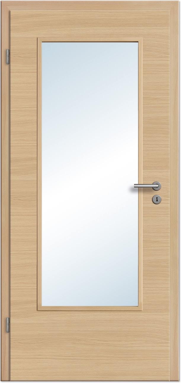 Zimmertür eiche  Innentür / Zimmertür Eiche Roheffekt Quer CPL mit großem ...