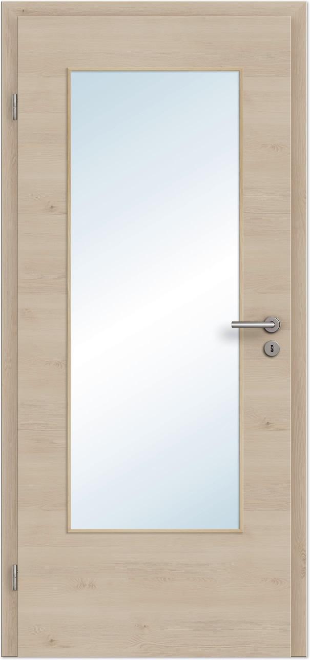 innent r zimmert r pinie light quer cpl mit gro em lichtausschnitt tuerenheld. Black Bedroom Furniture Sets. Home Design Ideas