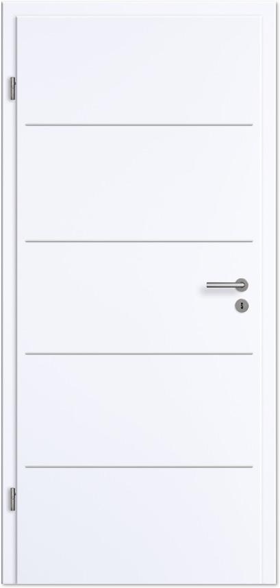Zimmertür weißlack  Innentür / Zimmertür Weißlack mit Lisenen - Tuerenheld