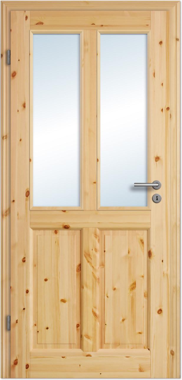 Innentüren Mit Glas landhaus-innentür rustiko 6fs lackiert mit esg-glas - tuerenheld