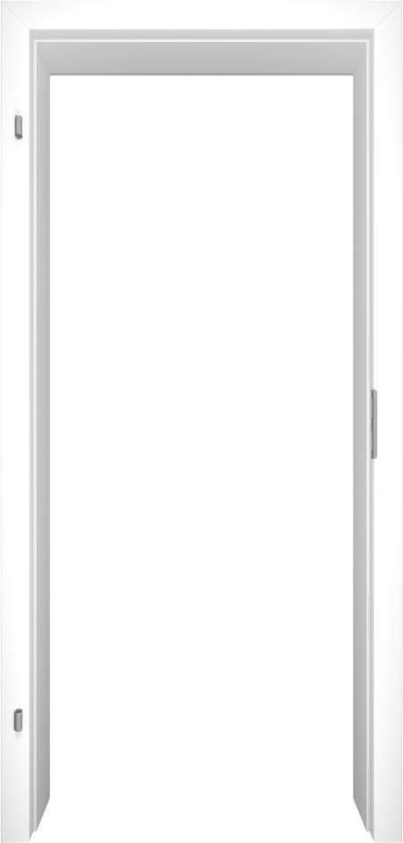 Sehr Gut WE-Tür Zarge Weiß CPL eckige Kante - Tuerenheld YV11